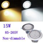 15W helle CREE LED Deckeneinbauleuchte Licht 85 265V + Fahrer LED Beleuchtung