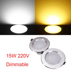 15W Cree LED Ceiling Spotlight Recessed Lamp Dimmable 220V + Driver