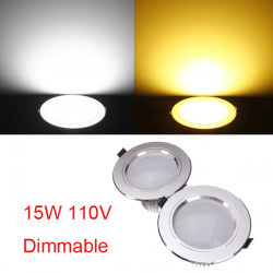 15W Cree LED Downlight Ceiling Recessed Lamp Dimmable 110V + Driver