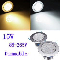 15W Dimbar Ljus CREE LED Infällda Down Light 85-265V