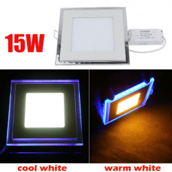 15W Recessed Square Acrylic LED Panel Ceiling Light Downlight 85-265V