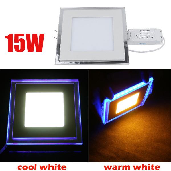 15W Forsænket Square Akryl LED Panel Loftslampe Downlight 85-265V LED Belysning
