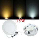 15W Round Dimmable LED Panel Ceiling Down Light Lamp AC 85-265V LED Lighting