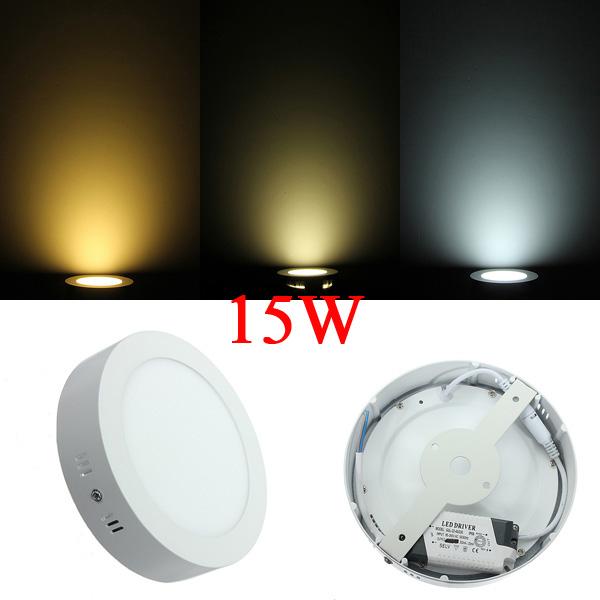 15W Round LED Panel Wall Ceiling Down Lights Mount Lamp AC 85-265V LED Lighting