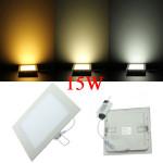 15W Square Loft Ultratynd Panel LED Lampe Downlight Lys 85-265V LED Belysning