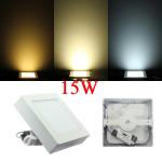 15W Square Dæmpbar LED Panel Loft Downlight Lampe AC 85-265V LED Belysning