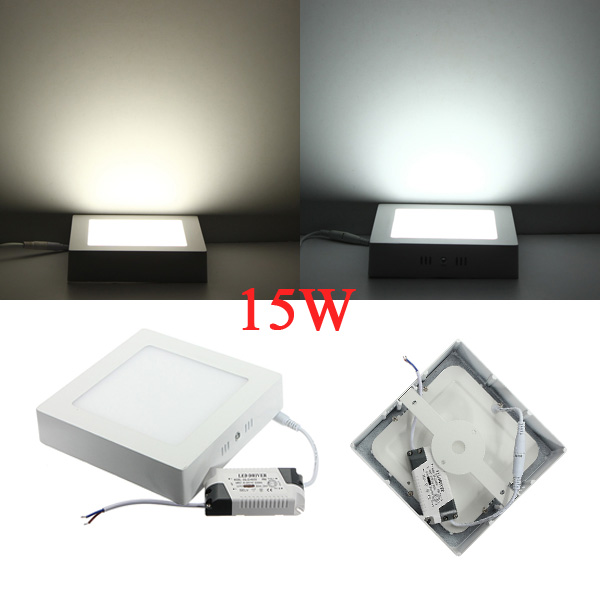 15W Square LED Panel Ceiling Down Light Lamp AC 85-265V LED Lighting
