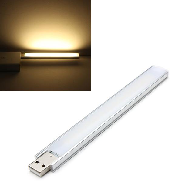 16cm 2.6W 14 SMD 5152 Aluminum Shell Strip Super Bright USB LED Lys LED Bånd / Lysbånd
