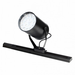 18W Black LED Track Light Spotlight Wall Kitchen Hotel Exhibition Fixture