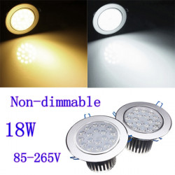 18W Bright CREE LED Forsænket Loft Downlight 85-265V + Driver