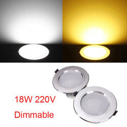 18W Cree LED Deckeneinbaustrahler Lampe dimmbar 220V + Treiber