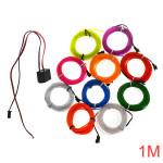 1M 10 Farver 12V Fleksibel Neon EL Wire Lys Dance Party Decor Lys LED Bånd / Lysbånd