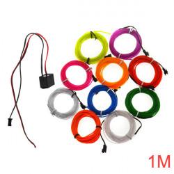 3M 10 Colors 12V Flexible Neon EL Wire Light Dance Party Decor Light