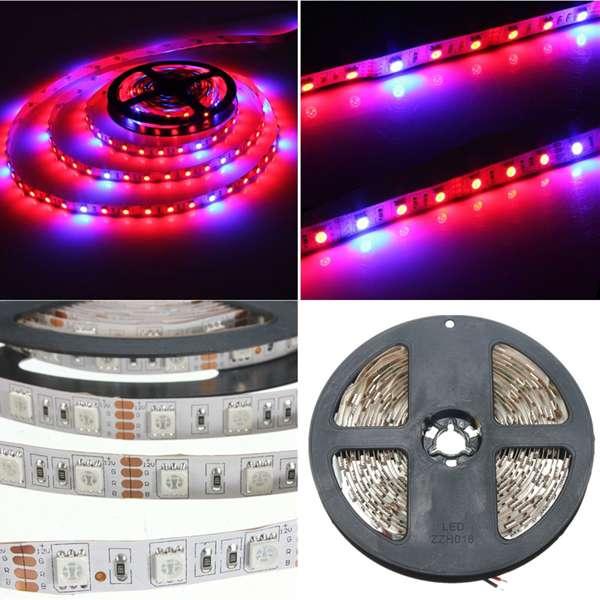 1M 2M 3M 4M 5M 5: 1 5050 SMD LED Hydroponiske Plant Grow LED Bånd 12V LED Belysning