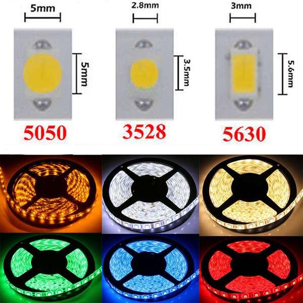 1M 3528 SMD 60LED Fleksibel LED Bånd Lysbånd RGB / Rød / Blå Ikke-Vandtæt 12V LED Bånd / Lysbånd
