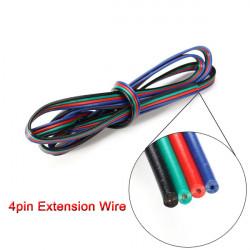 1M 4-Pin LED Förlängnings Wire Connector Kabel Sladd för RGB Lysrör
