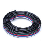 1M 5-Pin LED RGB Strip Forlængerkabel Wire for 5050/3528 Strips LED Bånd / Lysbånd