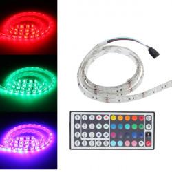 1M 5050 RGB 60 SMD Vattentät LED Slinga Ljus 12V AC / DC + Controller