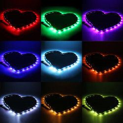 1M 5050 RGB LED Strip Light Non-Waterproof 30 LED 12V AC/DC+Controller