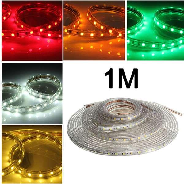 1M 5050 wasserdichte IP67 flexible LED Streifen Licht für Xmas Home Decor 110V LED Streifen