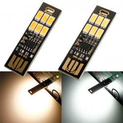 1W 50LM Mini Touch Switch USB Mobile Power Camping LED Lampa