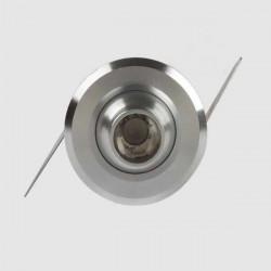 1W LED Spotlight Case Garderob Smycken Skåp Ljus Silver Shell