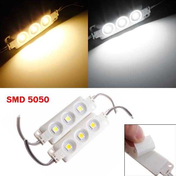 1stk Molding Wasserdicht 3LED 5050 SMD Modul Licht weißes / warmes Weiß LED Streifen