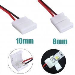 2 Pins Netzanschluss Adapter für 3528/5050 führte Streifen Draht mit PCB