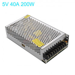 200W Switching Power Supply 170-250V till 5V 40A för LED-remsa Ljus