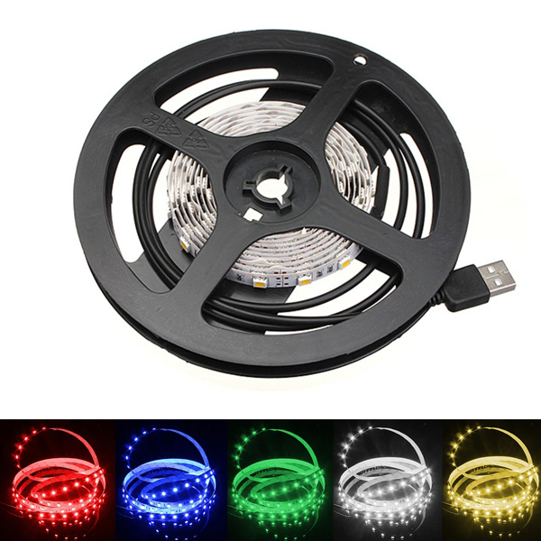 200cm Non-Waterproof LED Strip Light TV Background Light With AC 5V LED Strip