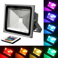 20W RGB Color Changing Outdoor Remote Control LED Flood Light 85-265V