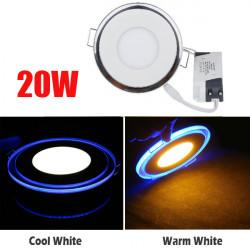 20W Infälld Round LED Takpanel Ljus Akryl Dual Ring Light
