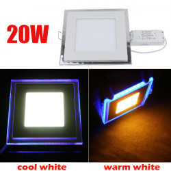 20W Recessed Square Acrylic LED Panel Ceiling Light Downlight 85-265V