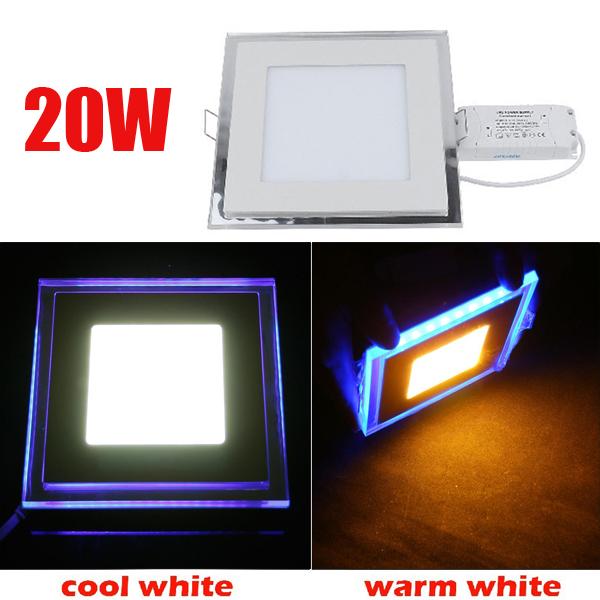 20W Recessed Square Acrylic LED Panel Ceiling Light Downlight 85-265V LED Lighting