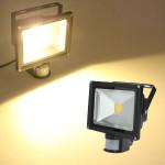 20W Varm Hvid 1550LM PIR Sensor Detective LED Projektør 85-265 AC LED Belysning