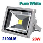 20W Hvid 2100LM LED Flood Wash Lys Udendørs Vandtæt 85-265V LED Belysning