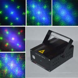 20 in 1 Pattern R&G Laser Projector Blue Background Disco Stage Light