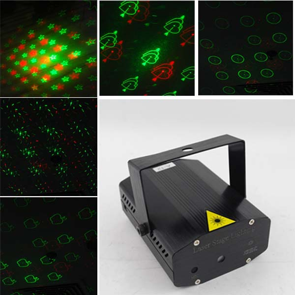 20 in 1 R&G Voice-activated Auto Laser Projector DISCO Stage Light LED Lighting
