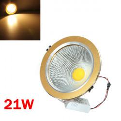 21W COB LED Loft Downlight Golden Shell Belt Drive 85-265V