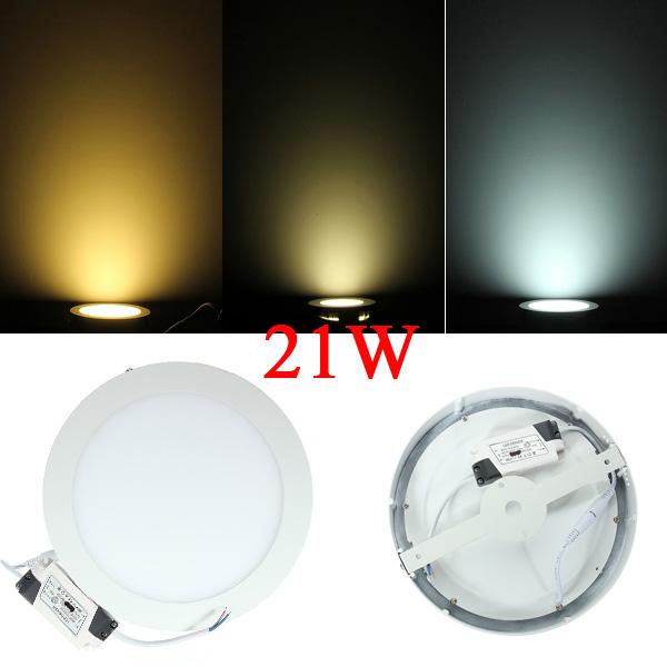 21W Round Ceiling Ultrathin Panel LED Lamp Downlight Light 85-265V LED Lighting