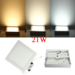 21W Square LED Panel Wall Ceiling Down Lights Mount Lamp AC 85-265V LED Lighting