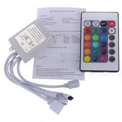 24 Key IR Fjernbetjening Til RGB LED 3528 5050 SMD LED Bånd 12V
