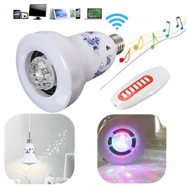 2in1 E27 LED Dimmer Bulb Light Wireless Bluetooth Stereo Speaker LED Lighting