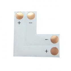 2pin 10mm LED Leiterplattensteckverbinder, L für SMD 5050 Einzelfarbstreifen Shaped