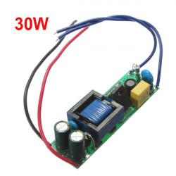 30W LED Driver Strömförsörjning Konstant Ström för Strålkastare 110-240