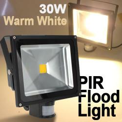 30W Warm White 2450LM PIR Sensor Detective LED Flutlicht 85 265V