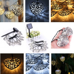 3,6 12 LED Solar Powered Hearts Slinga Fairy Lights Jul Decor LED-belysning
