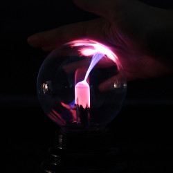 3 Inches Magic Elektrostatisk Induction Plasma Ball Lysning Lamp