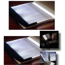 3 LED Night Panel Book Læselampe Lys Power Af 3 AAA Batterier