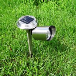 3 LED Sonnenenergie Rasen Licht im Freien Landschaftsgarten Weg Spotlight